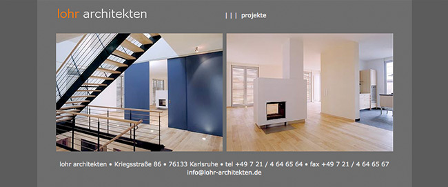 Internetseite Architekten